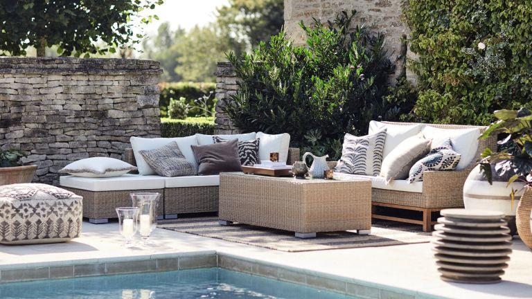 patio ideas: poolside patio OKA