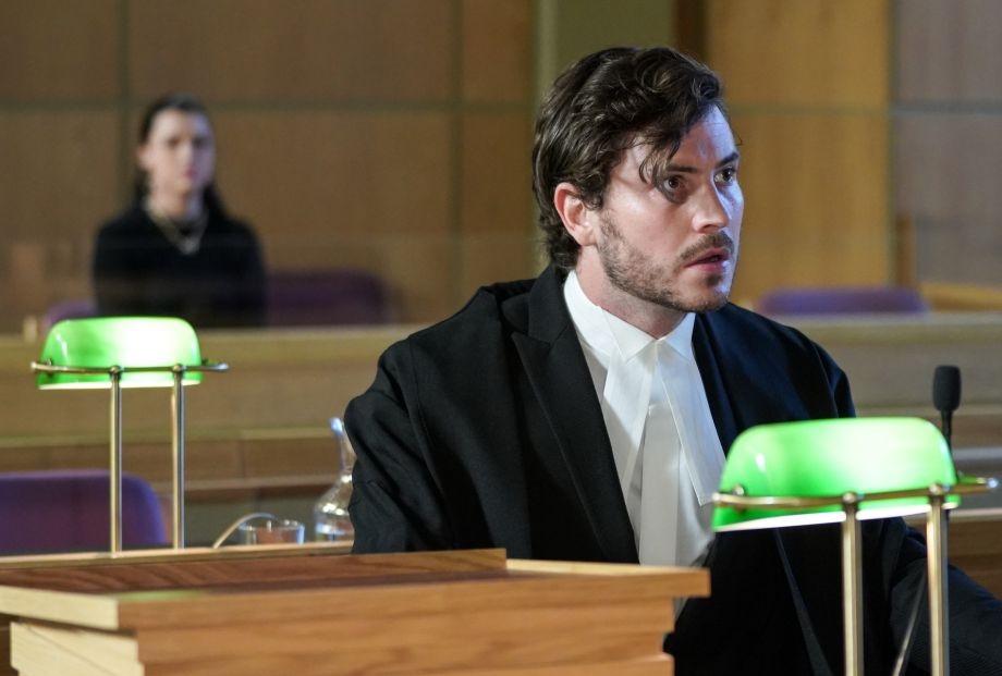 Gray Atkins is about to sum-up Whitney's case in EastEnders