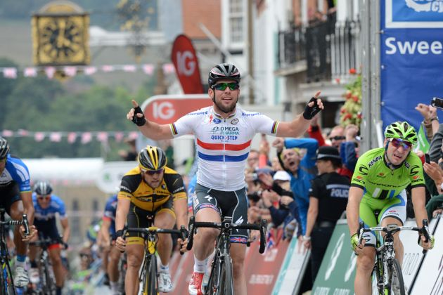Mark Cavendish, stage winner, Tour of Britain 2013, stage seven
