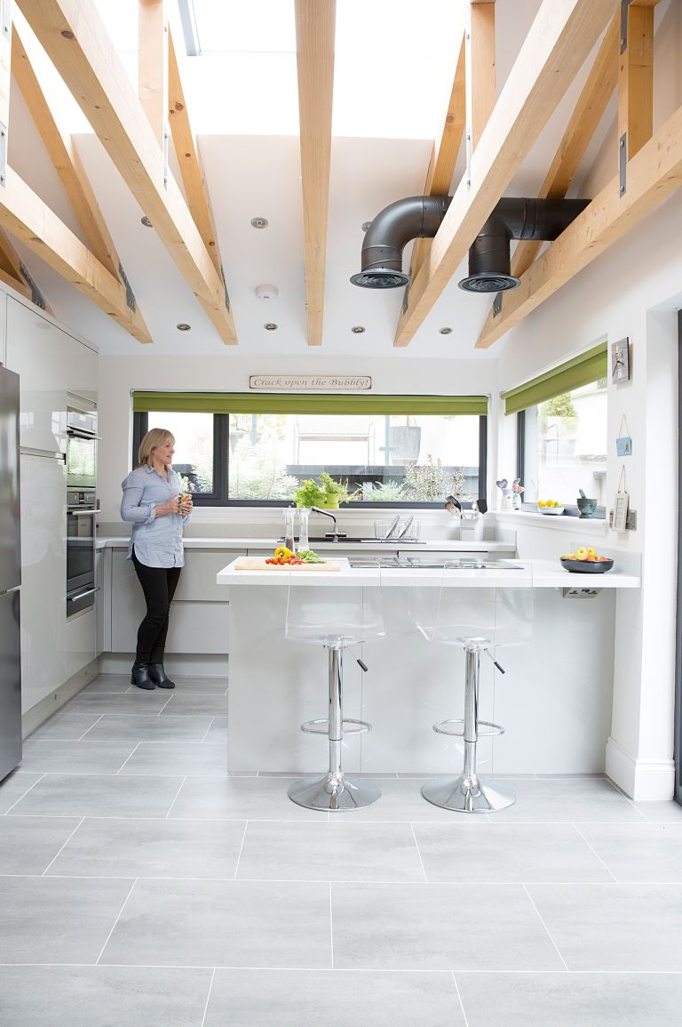By extending to create an open-plan kitchen diner, Heather and Jim have unified their house and garden and achieved their dream space