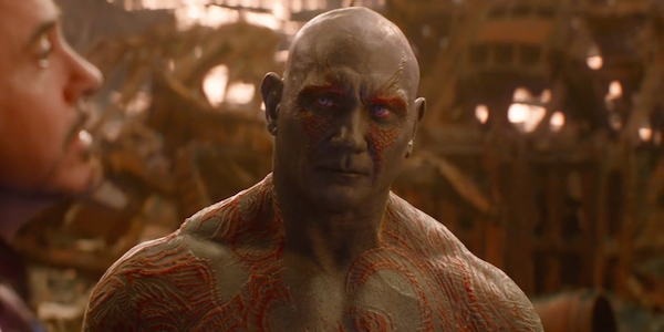 Drax is invisible in guardians of the galaxy.