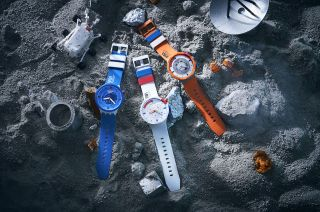 Swatch's new Space Collection includes three BioCeramic watches that take their hues from NASA's iconic astronaut gear.