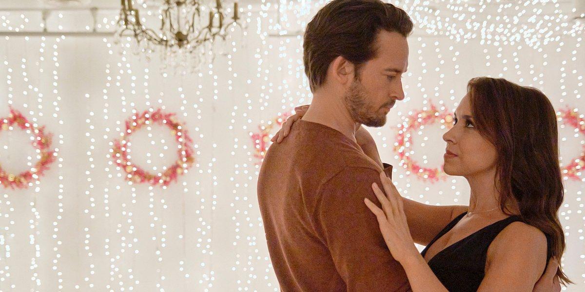 will kemp lacey chabert longing look christmas waltz 2020 hallmark