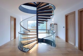 Spiral, curved and cantilevered staircases can create a real centrepiece in the home