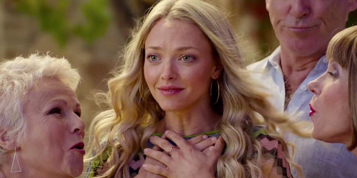 Amanda Seyfried as Sophie featured in Mamma Mia! Here We Go Again.