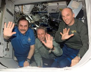 German Chancellor Talks Science with Nation's First ISS Astronaut