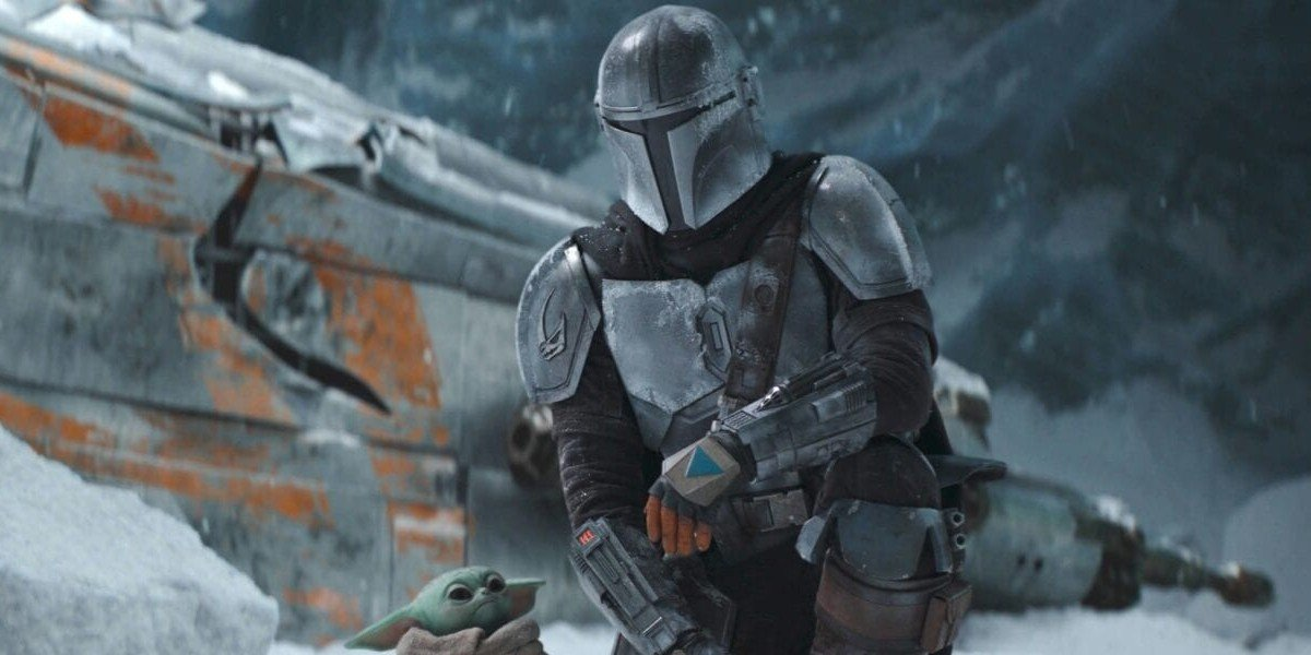 The Mandalorian and The Child on The Mandalorian (2020)