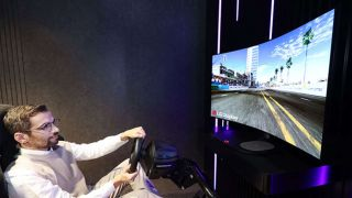 LG's worlds first OLED bendable gaming monitor
