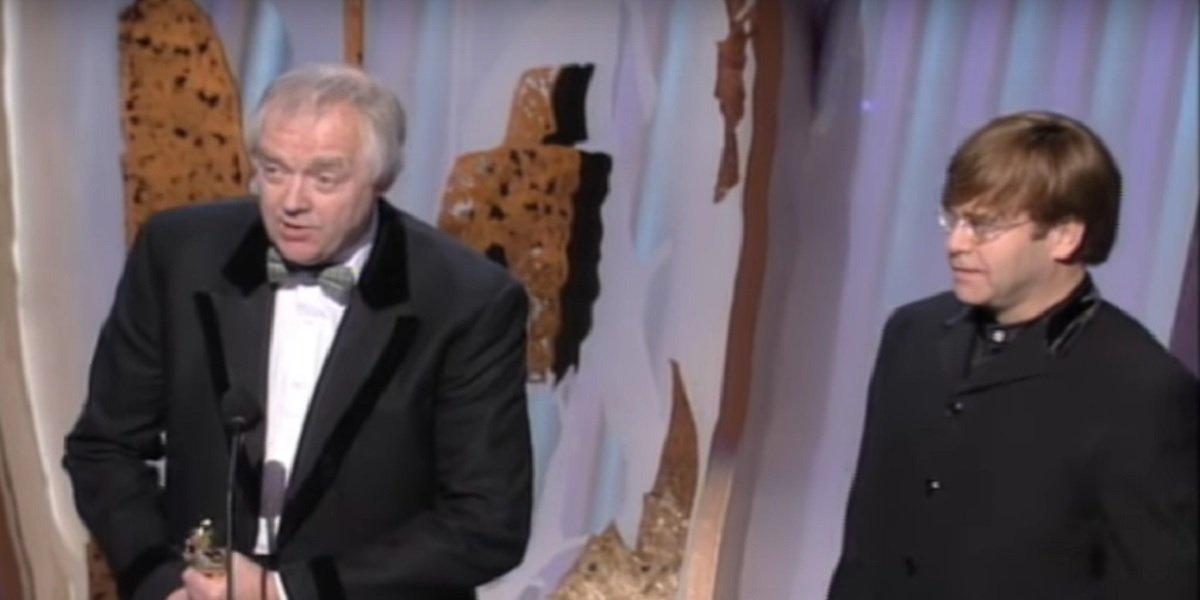 Tim Rice and Elton John at 1995 Oscars