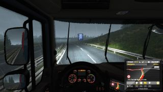 Driving a truck in the dark