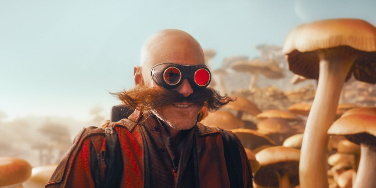 Jim Carrey is trapped on the mushroom planet in Sonic The Hedgehog.