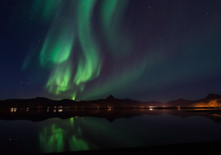 Auroras Over Norway Video Frame