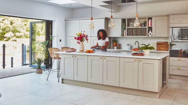 Jessica's open-plan kitchen is proof that a little research and a lot of savvy thinking can go a long way in creating your dream space for less