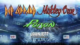 Motley Crue, Def Leppard and Poison poster