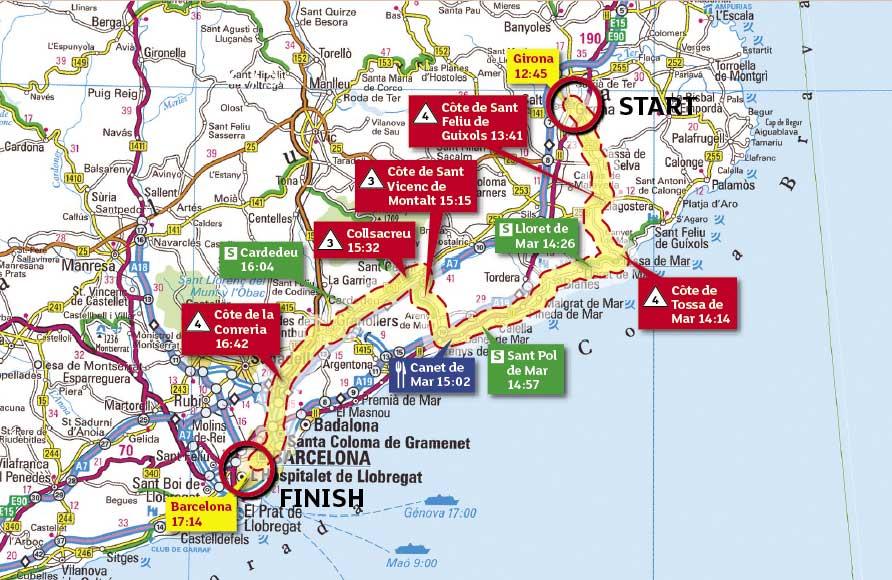 Tour de France 2009 stage 6 map
