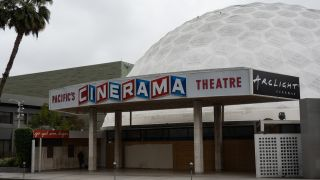 The Pacific Theatres' Cinerama Dome, part of the ArcLight Hollywood complex, permanently closed in Hollywood, California, U.S. on Tuesday, April 13, 2021. ArcLight Cinemas and Pacific Theatres, two California movie-theater chains that are part of the same company, announced plans to close permanently, underscoring the still-tenuous state of the industry.