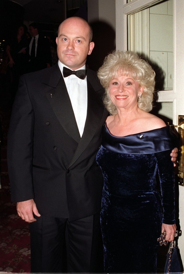 EastEnders stars Ross Kemp and Barbara Windsor in 1997