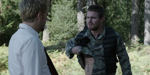 Oliver Queen Tattoo From Constantine: Arrow: How Oliver's Constantine Tattoo Will Impact The Show