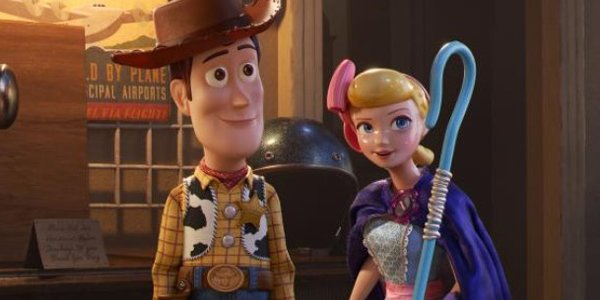Bo Peep in the antique store in Toy Story 4 with Woody