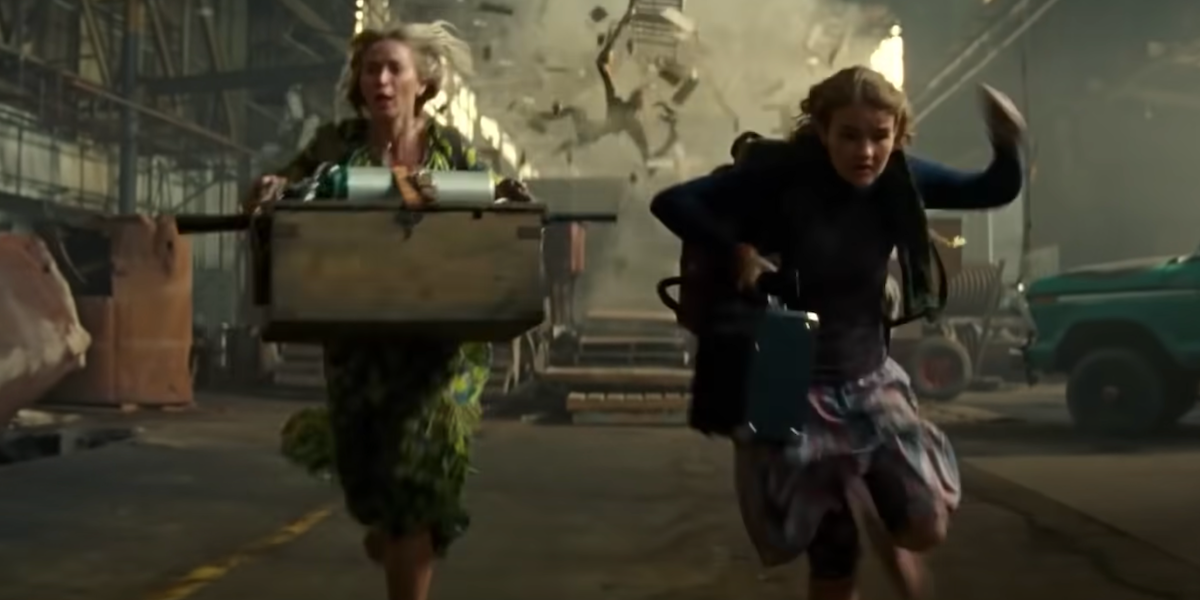 Emily Blunt and Millicent Simmonds as Evelyn and Regan in Quiet Place Part 2