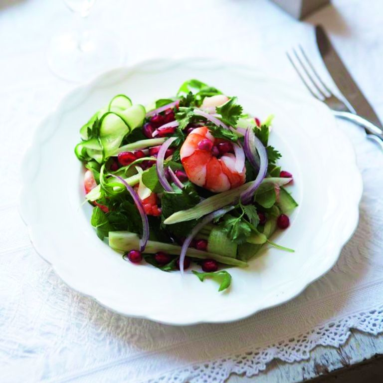 Prawn and Fennel Salad with Pomegranate recipe-prawn recipes-recipe ideas-new recipes-woman and home