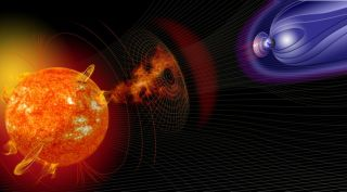 Space weather solar storms