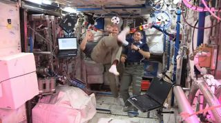 Swanson Bicycle Kick on International Space Station