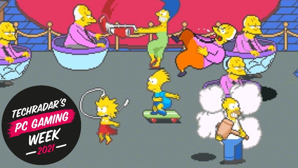 Screenshot of The Simpsons Arcade Game