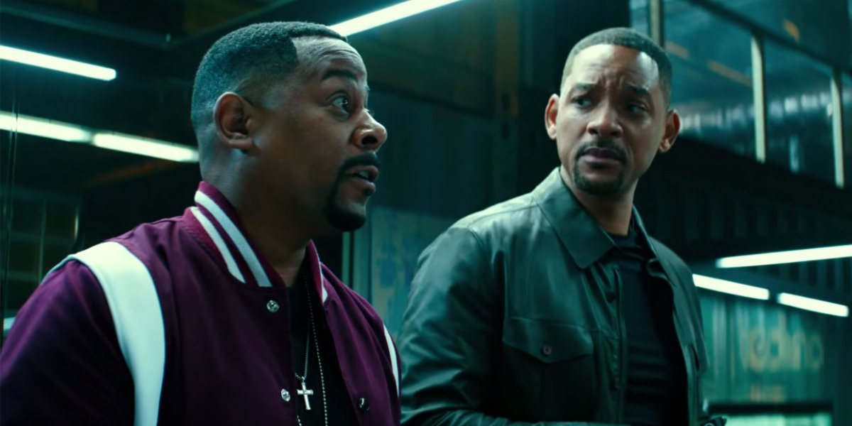 Bad Boys For Life Martin Lawrence and Will Smith looking concerned in the office