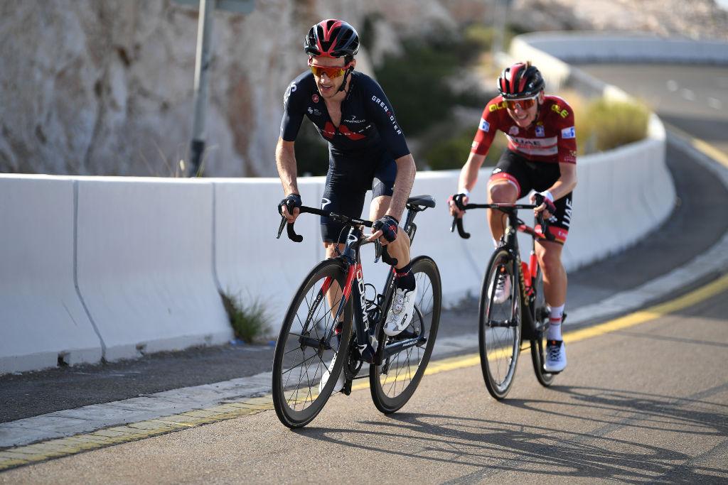 Adam Yates and Tadej Pogacar attacked on the Jebel Hafeet climb