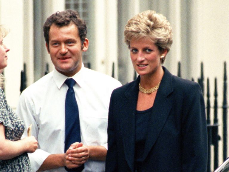 Paul Burrell and Princess Diana in London