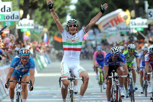 Filippo Pozzato wins, Giro d'Italia 2010, stage 12