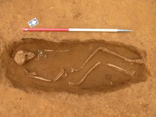One of the 154 Anglo-Saxon burials found at the site in Northamptonshire