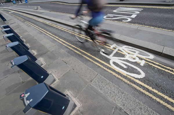 Cycling in London, bike lane