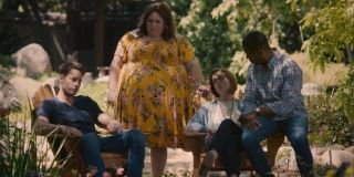 Justin Hartley as Kevin Pearson, Chrissy Metz as Kate Pearson, Mandy Moore as Rebecca Pearson and Sterling K. Brown as Randall Pearson in This Is Us.
