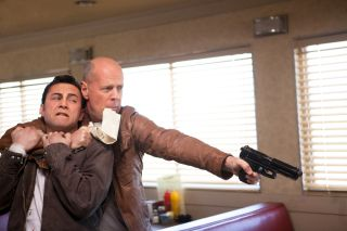 "Gordon-Levitt, Willis in ""Looper"""