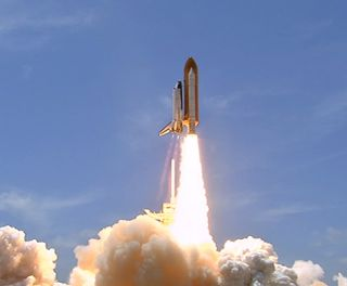 Liftoff of space shuttle Atlantis on its STS-132 mission, the shuttle's 32nd and final planned mission to space since it began flying in 1985. Launch was on time at 2:20 p.m. EDT.