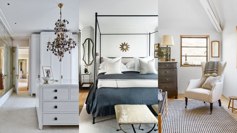 A composite of white bedroom ideas