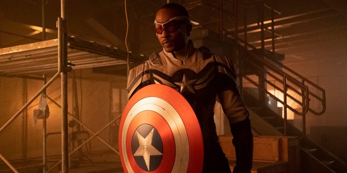 Sam Wilson Captain America in The Falcon And The Winter Soldier