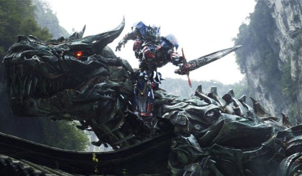 Transformers: Age of Extinction Optimus Prime riding Grimlock in the wilderness