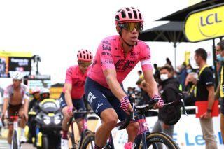 Rigoberto Uran (EF-Nippo) finishes stage 18 of the Tour de France