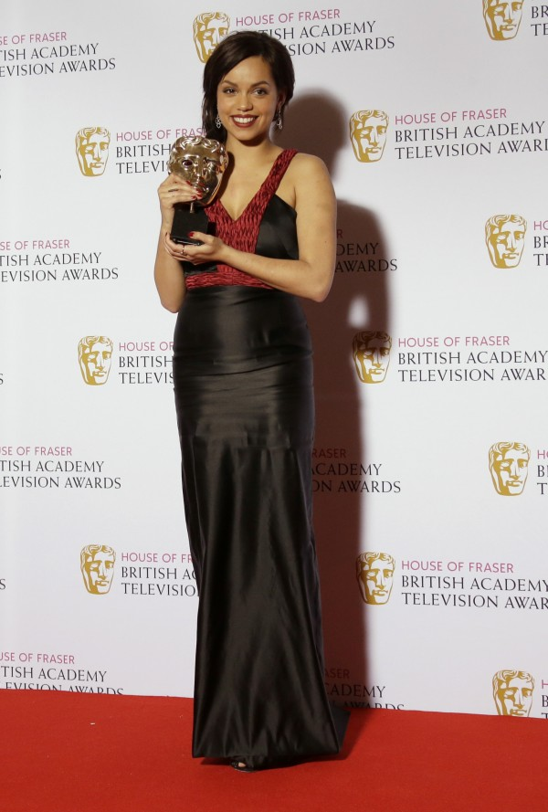 Georgina Campbell with her Bafta