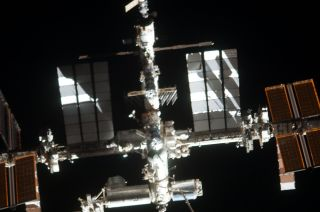 nternational Space Station Photographed from the Space Shuttle Atlantis