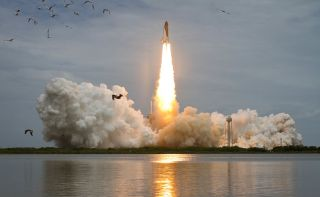 NASA's space shuttle Atlantis launches on July 8, 2011, kicking off STS-135, the final mission of the shuttle program.