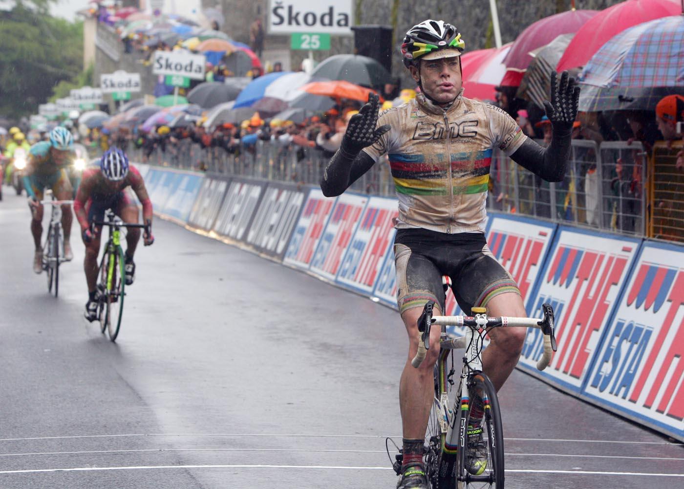 Cadel Evans wins, Giro d'Italia 2010, stage 7