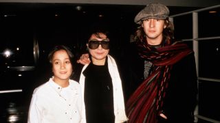 Sean Lennon (left) with mother Yoko Ono and older brother Julian