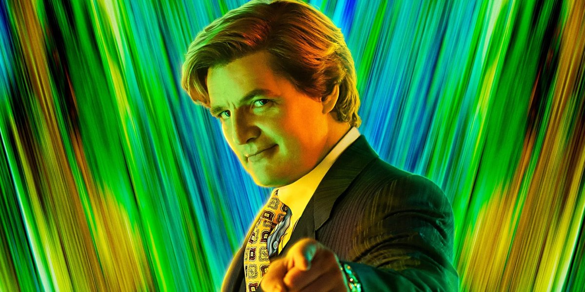 Pedro Pascal as Maxwell Lord in a poster for Wonder Woman 1984