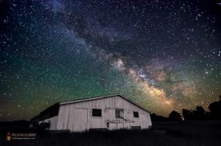 Milky Way Over Rural Maine Taylor