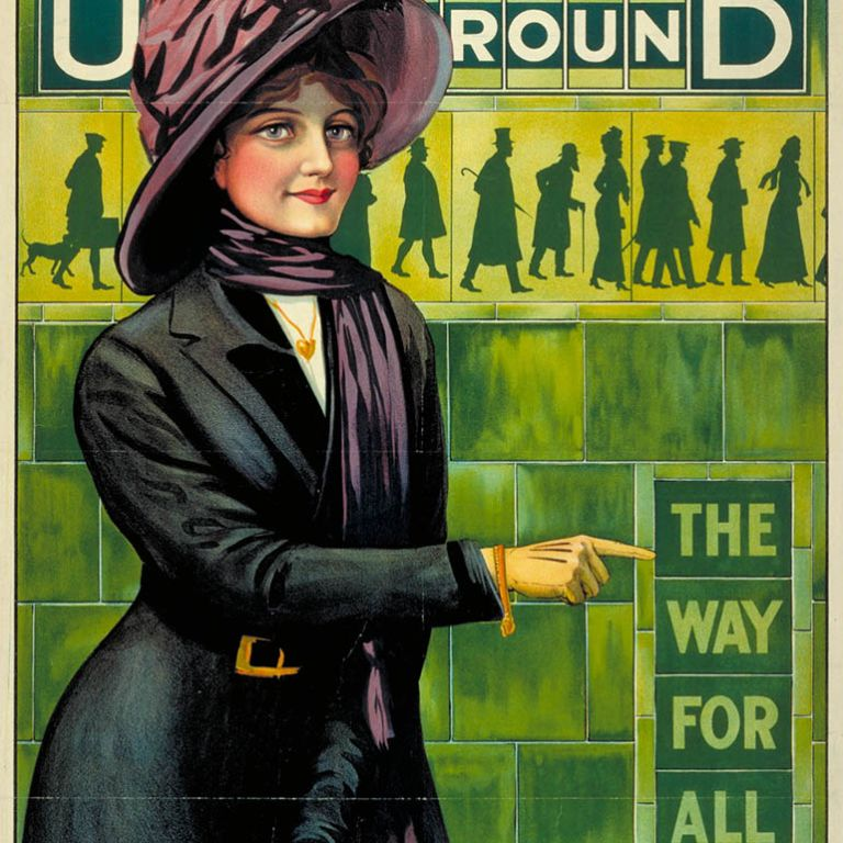 London Underground Posters: Underground; the way for all, by Alfred France, 1911