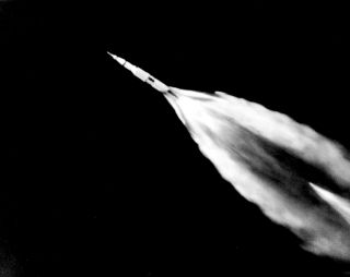 Saturn V launches Apollo 11